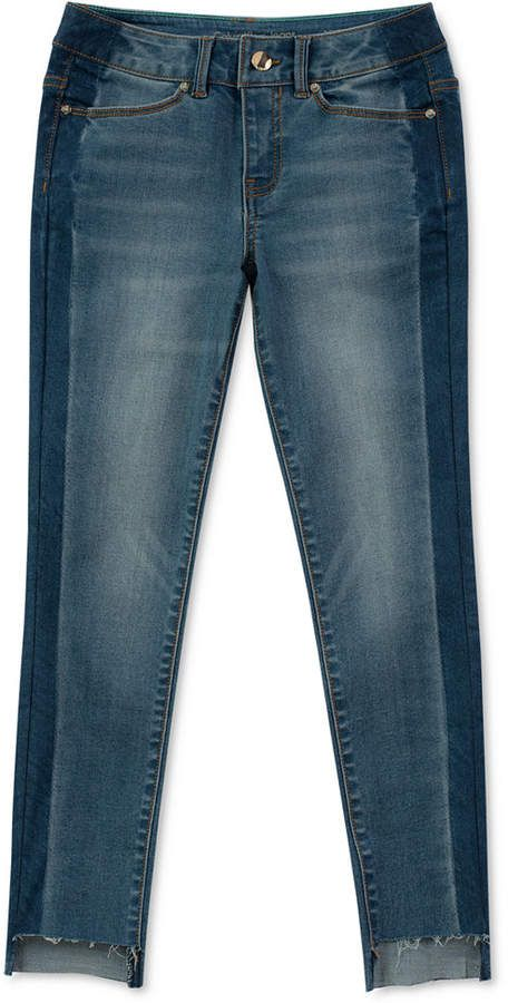 c364d158b52 Big Girls Side Stripe Skinny Jeans  jeans skinny wardrobe