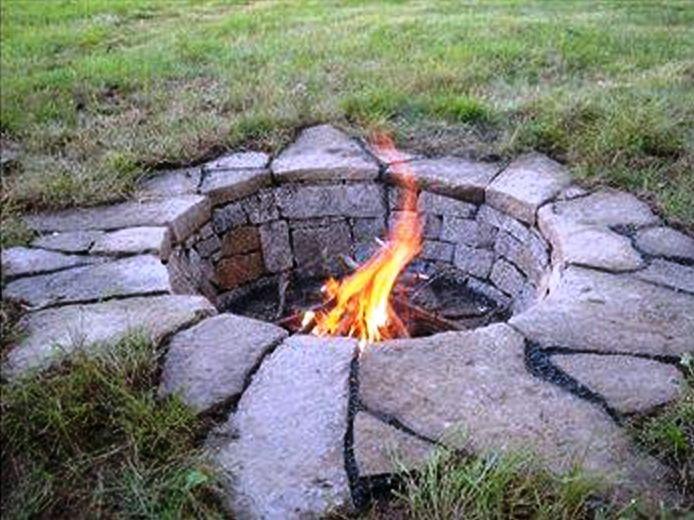 Sunken Fire Pit Outdoor Fire Backyard Outdoor