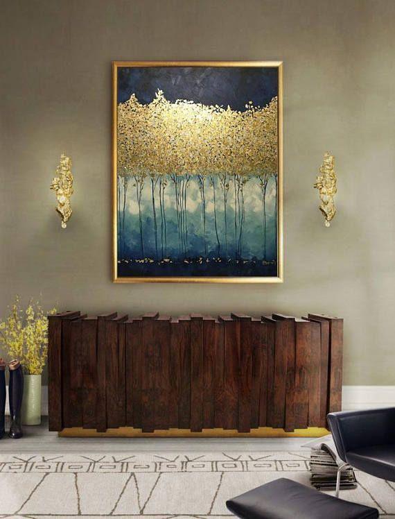 Grand Tableau Abstrait Peinture Murale à L Huile Peinture