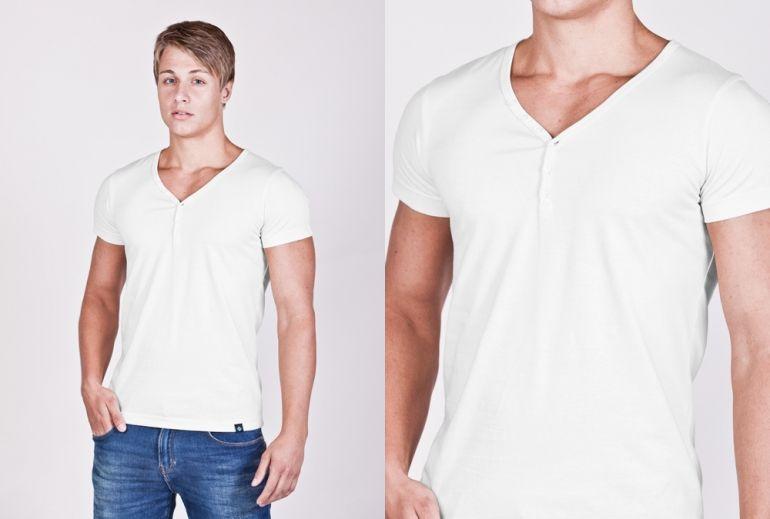 889c8dee1b75 Pánské SLIM tričko s knoflíčky v 19 barvách