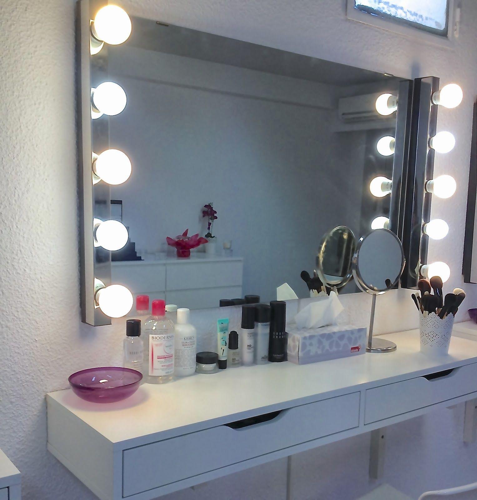 Les 25 meilleures id es de la cat gorie espejos con luz - Espejos con bombillas ...