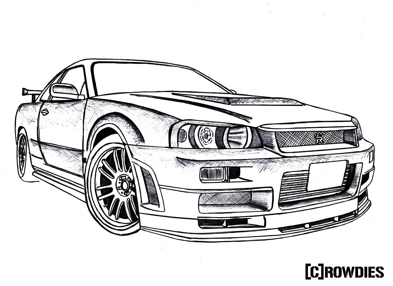 #drawing #crowdies #gtr | Car Drawings | Pinterest | Nissan Skyline Cars And Nissan