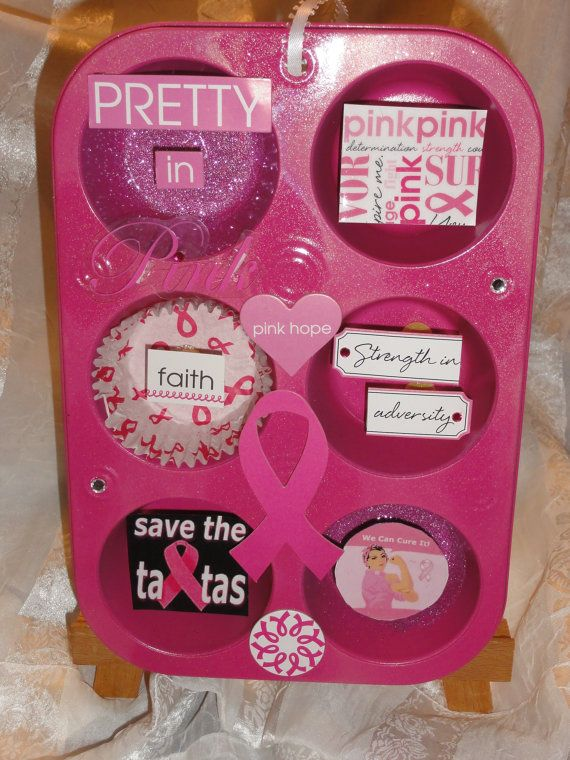 Pretty In Pink Breast Cancer Tin by Board2Crafts on Etsy, $10.00