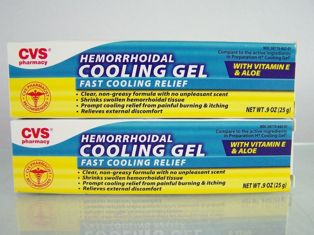Cvs Hemorrhoidal Cooling Gel Lot Of 2 Aloe Vitamin E Compare To
