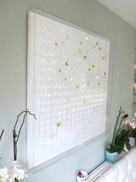 Perspex Box Frame Closeup Schilderijlijst Interieur Appartement