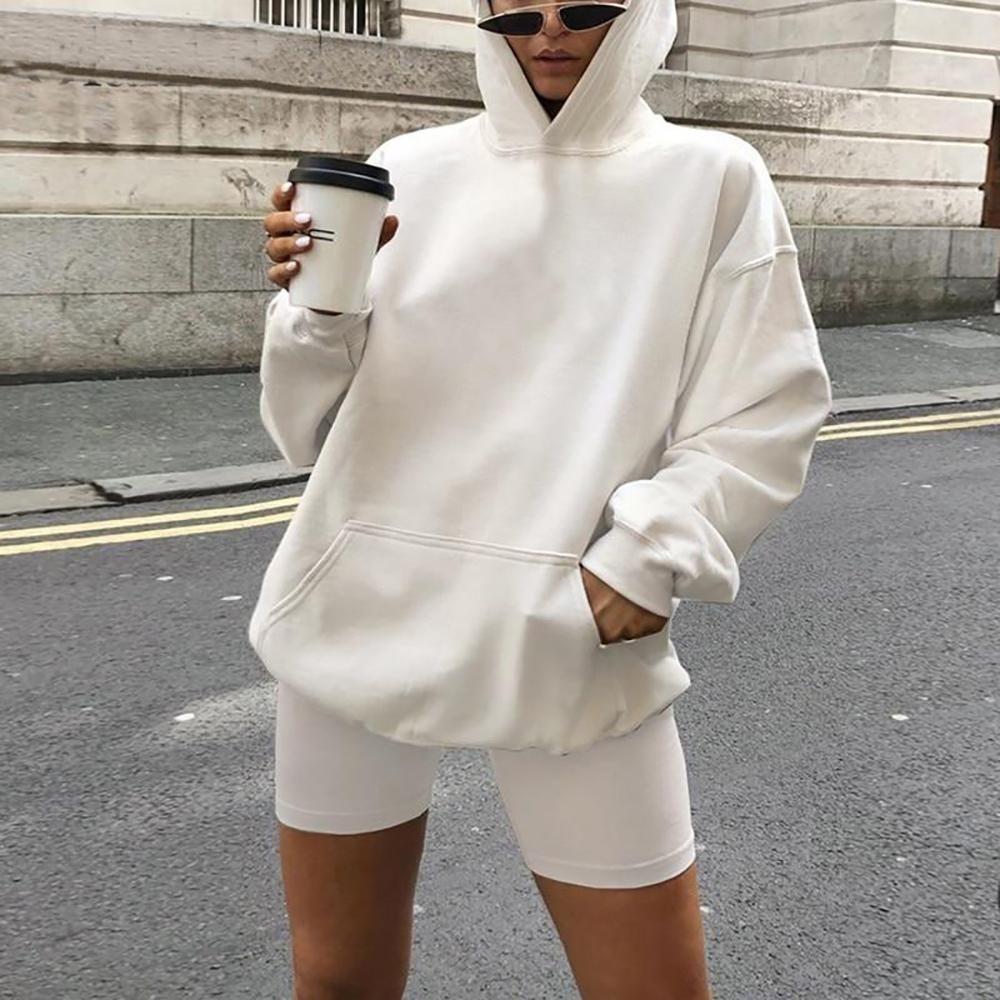 Ashoreshop Women Hoodie Sweatshirt And Biker Shorts 2 Piece Sets In 2021 White Sweatshirt Outfit White Hoodie Outfit Hoodies Womens [ 1000 x 1000 Pixel ]
