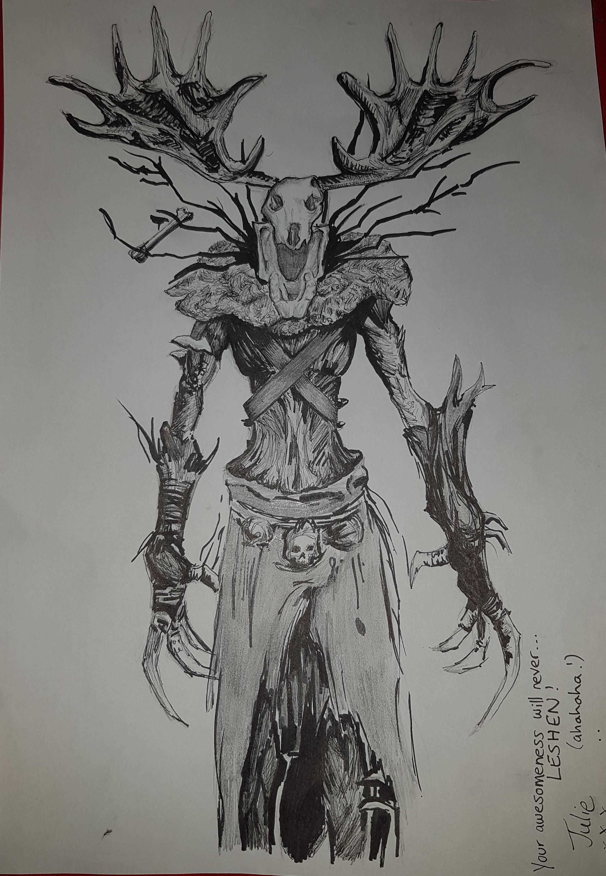 Friend Awesome Leshen Drawing #thewitcher3 #ps4 #