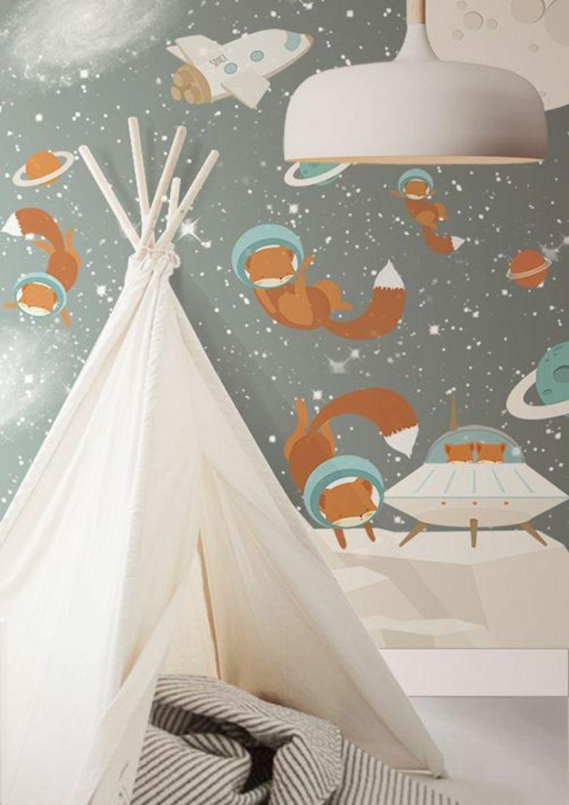 Tapeten Kinderzimmer Passende Farben Und Motive Auswahlen Tapete Kinderzimmer Junge Kinder Zimmer Kinderzimmer Tapete