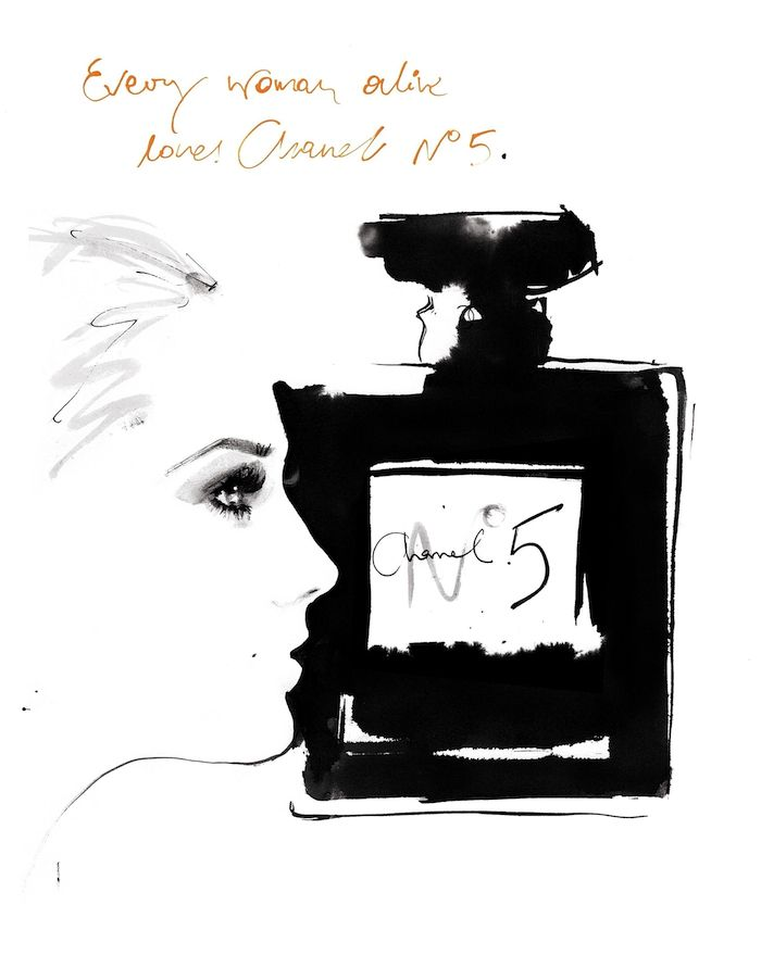 """Lady N° 5"" inspiration: Chanel No. 5 Perfume Ad"