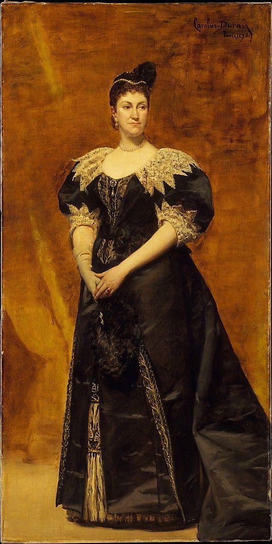 Mrs. William Astor (Caroline Webster Schermerhorn, 1831–1908) Carolus-Duran (Charles-Auguste-Émile Durant) Date: 1890