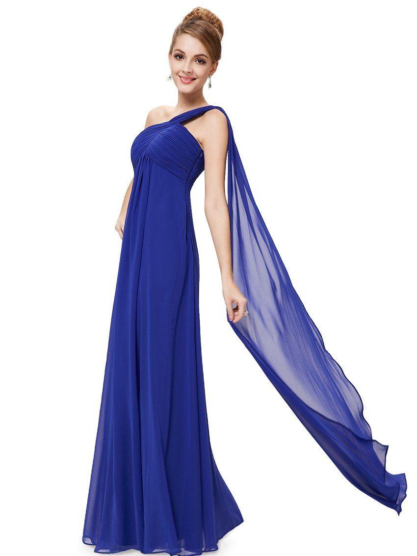 HE09816BL06, Blue, 4US,Ever Pretty New Year Women Long Evening Dresses 09816