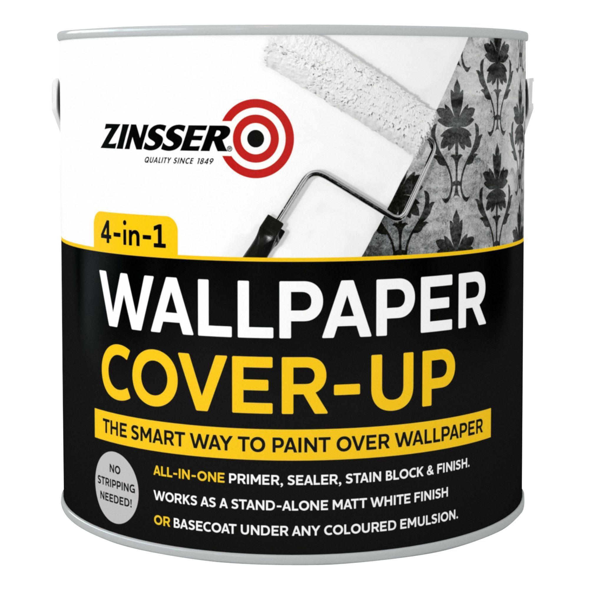 Zinsser BIN Off White Matt Wallpaper Cover Up Paint
