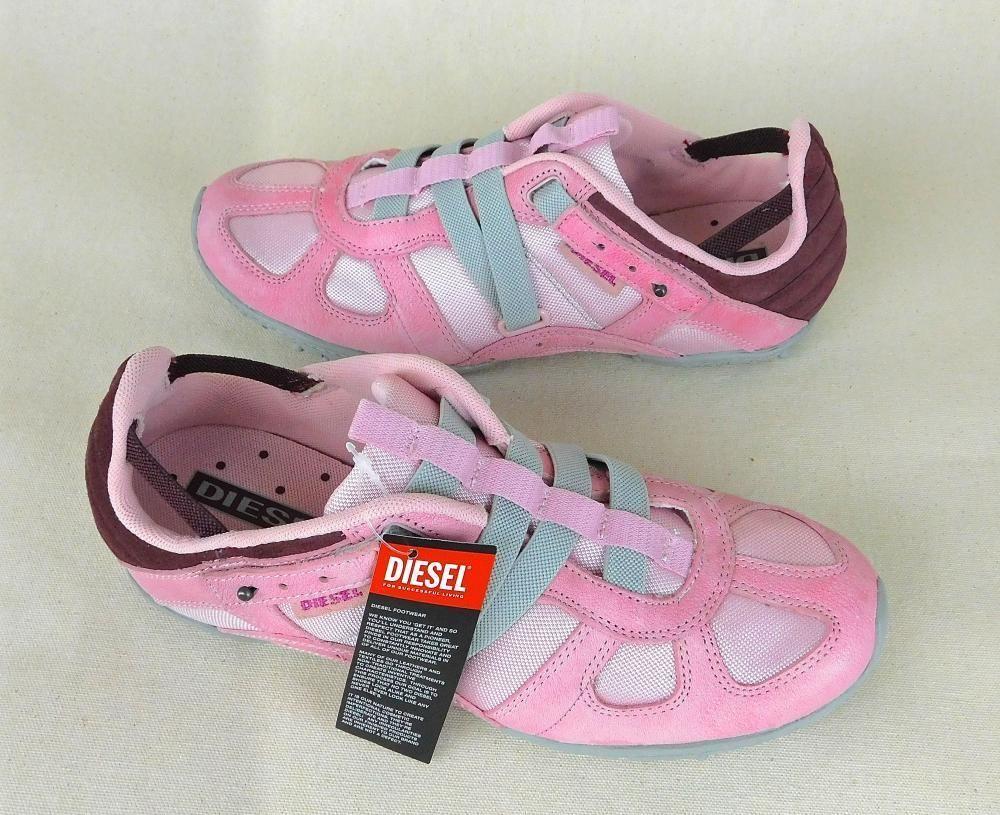 DIESEL Moslette Pink Canvas Slip-On