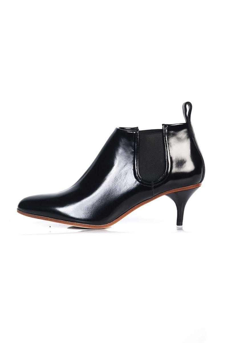 b4c2f01f99b Acne palma kitten heel ankle boot black   stylepaste.com