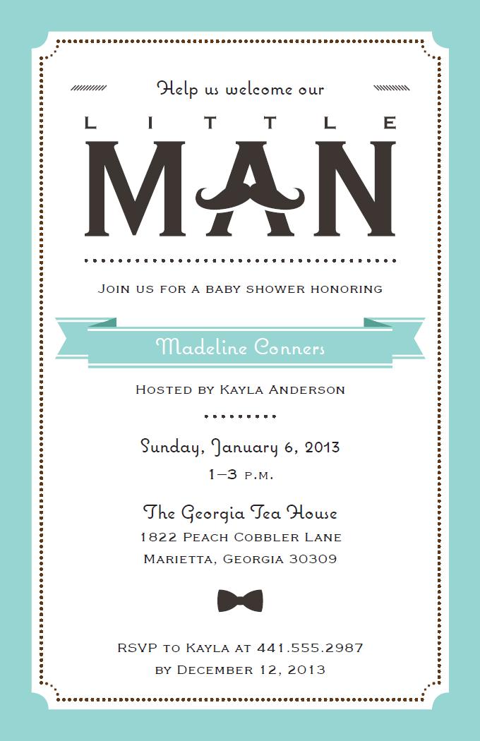 Little Man Baby Announcement Vistaprint Baby Shower Invitations