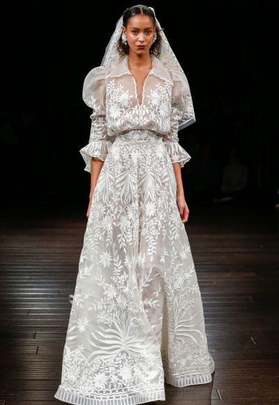 Coolest Dresses From Bridal Fashion Week Fall 2017