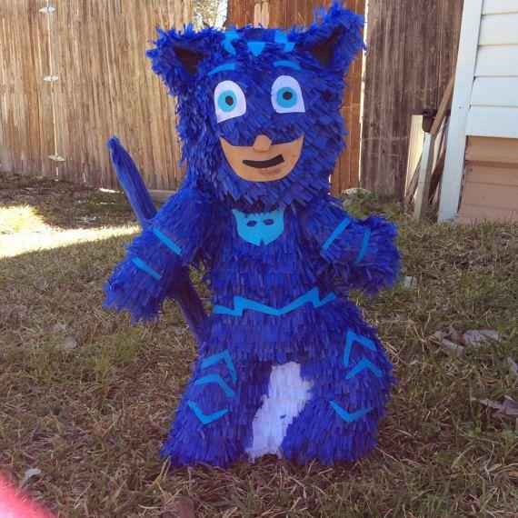 Pj mask pi ata this made with cardboard crepe paper - Pinatas para cumpleanos infantiles ...