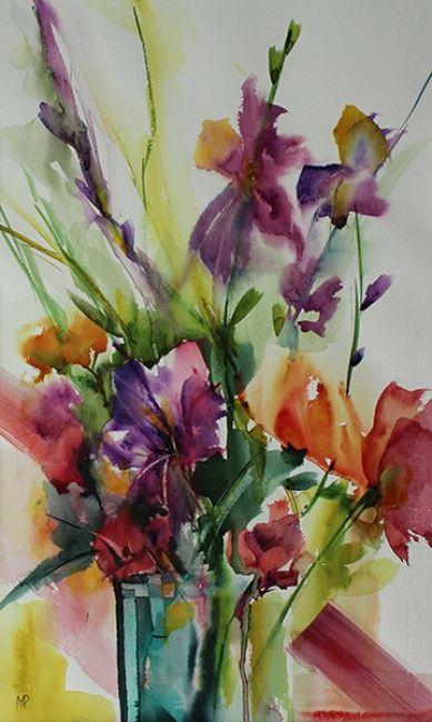 Aquarelle Originale Sur Papier 300g Watercolor Flowers Floral