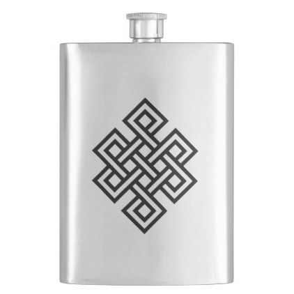 Tribal No Infinite Hip Flask Zazzle Com Flask Drawing Flask Flask Diy