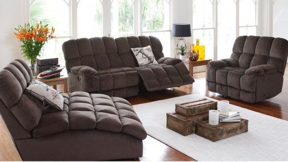Hustler 2.5-Seater Recliner Lounge - Lounges & Recliners - Living ...