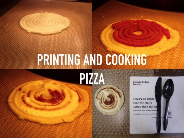 The F3d 3d Printer Doesn T Just Print Pizza But Also Cooks It In Less Than 20 Minutes Cooking Pizza Food Print Cooking