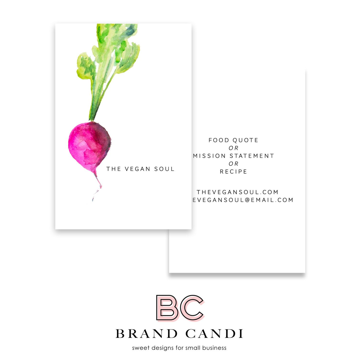 ve able business card premade business card template food