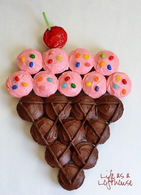pie composed of cupcake Cupcakes Pinterest Pies Ice cream