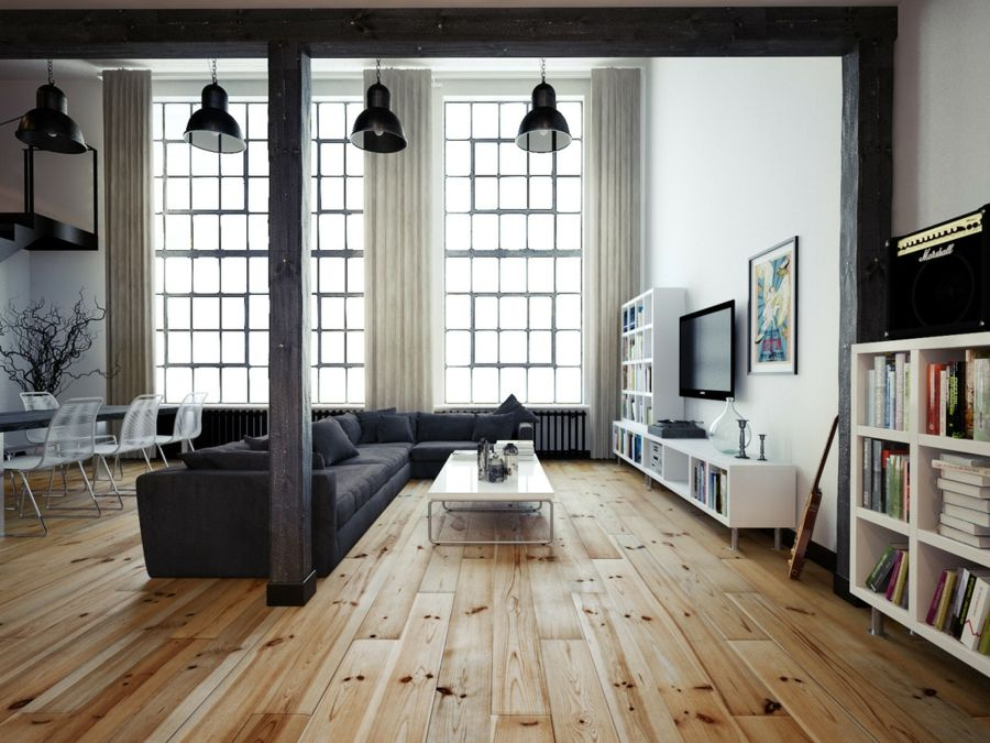 Wohnzimmerlampe Im Industriellen Stil 50 Ideen Wie Sie