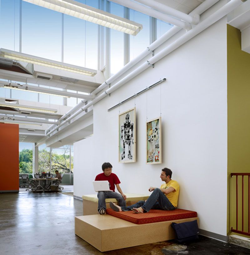 Collaborative spaces facebook office interior designs for Collaborative office space design