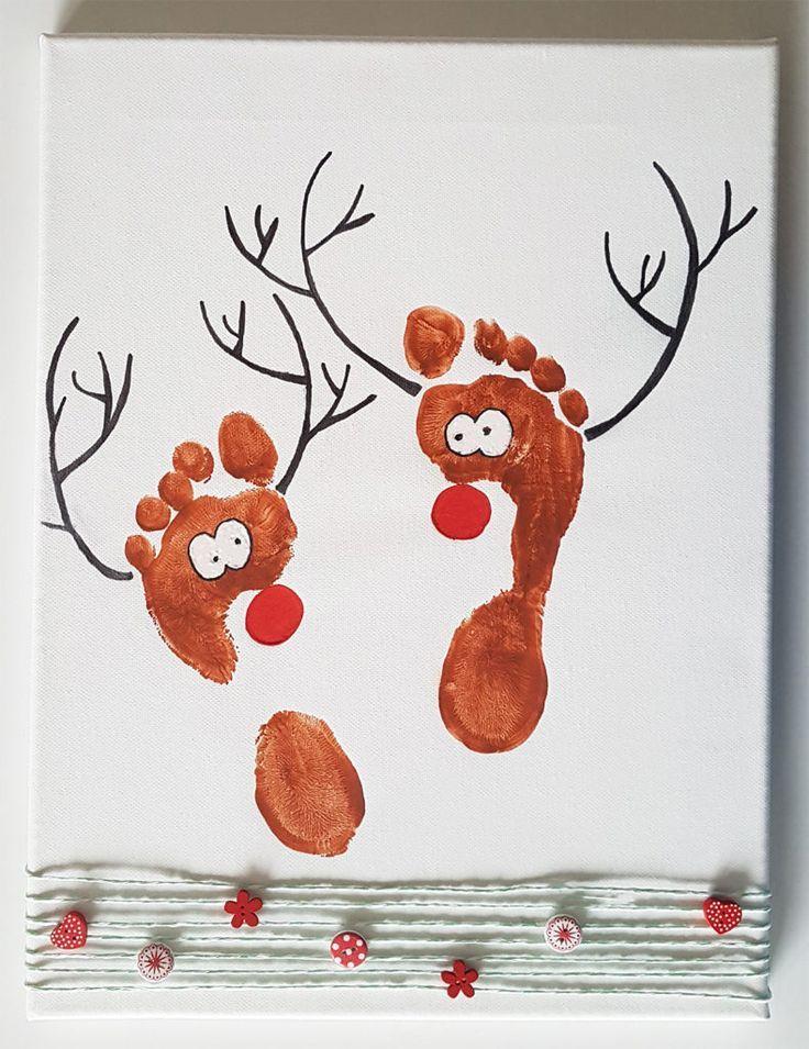 Personalisierte Leinwand mit Fußabdrücken – Lingufino