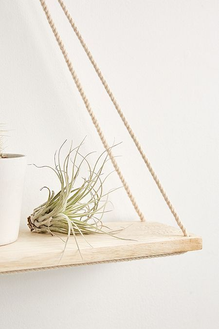 Elie Wooden Hanging Shelf Plants Shelves