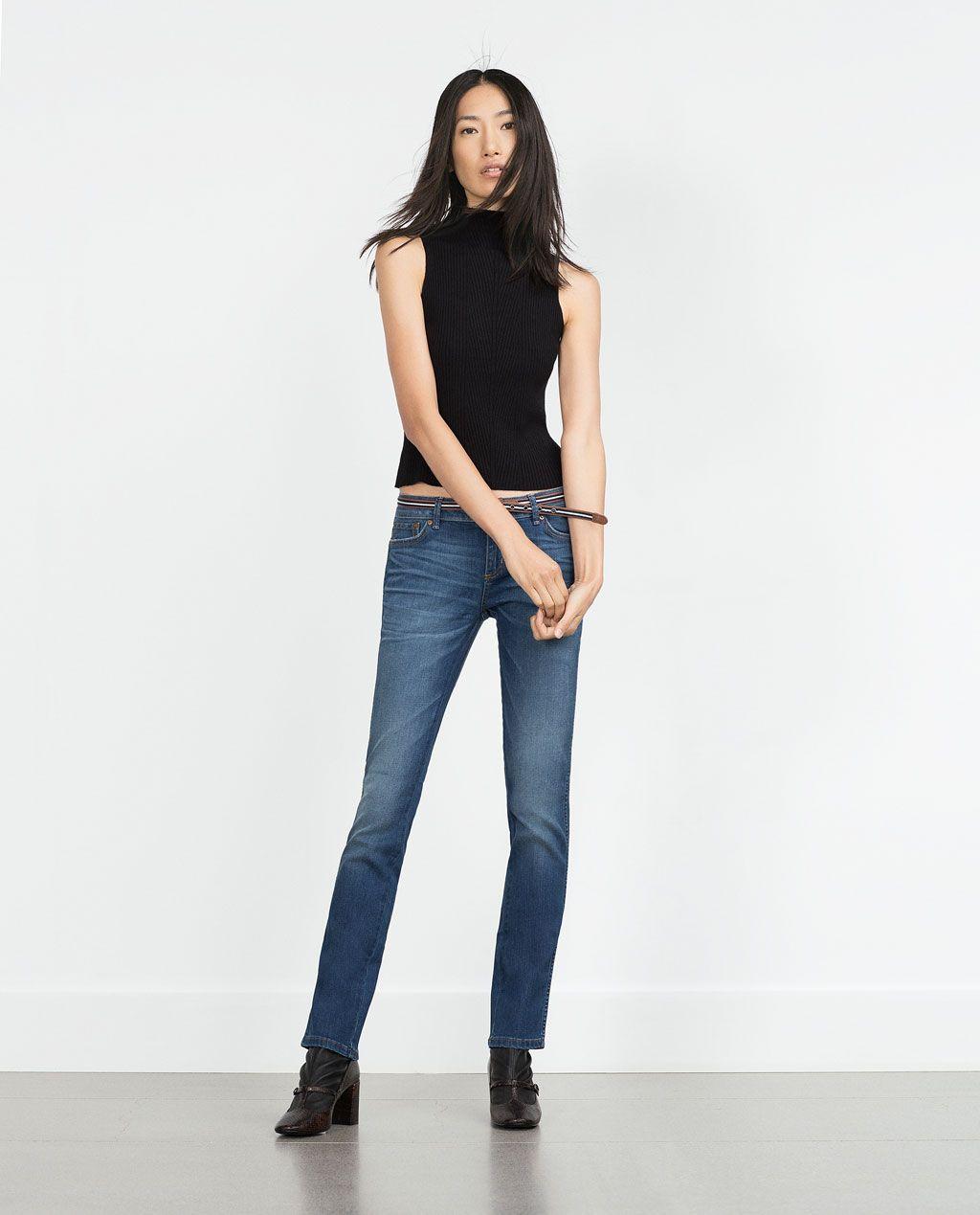 Zara Mujer Otoño Pantalón Denim RectoRopa EHebWD9IY2