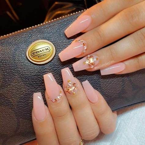 150 Trendy Acrylic Nails Designs 2018 Nails Design With Rhinestones Coffin Nails Designs Best Acrylic Nails