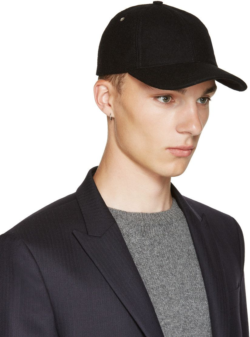 A.P.C. - Black Wool Cap  347110563ea