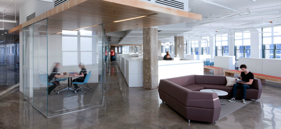 Glass Walls Allow For Quiet Meeting Spaces Without