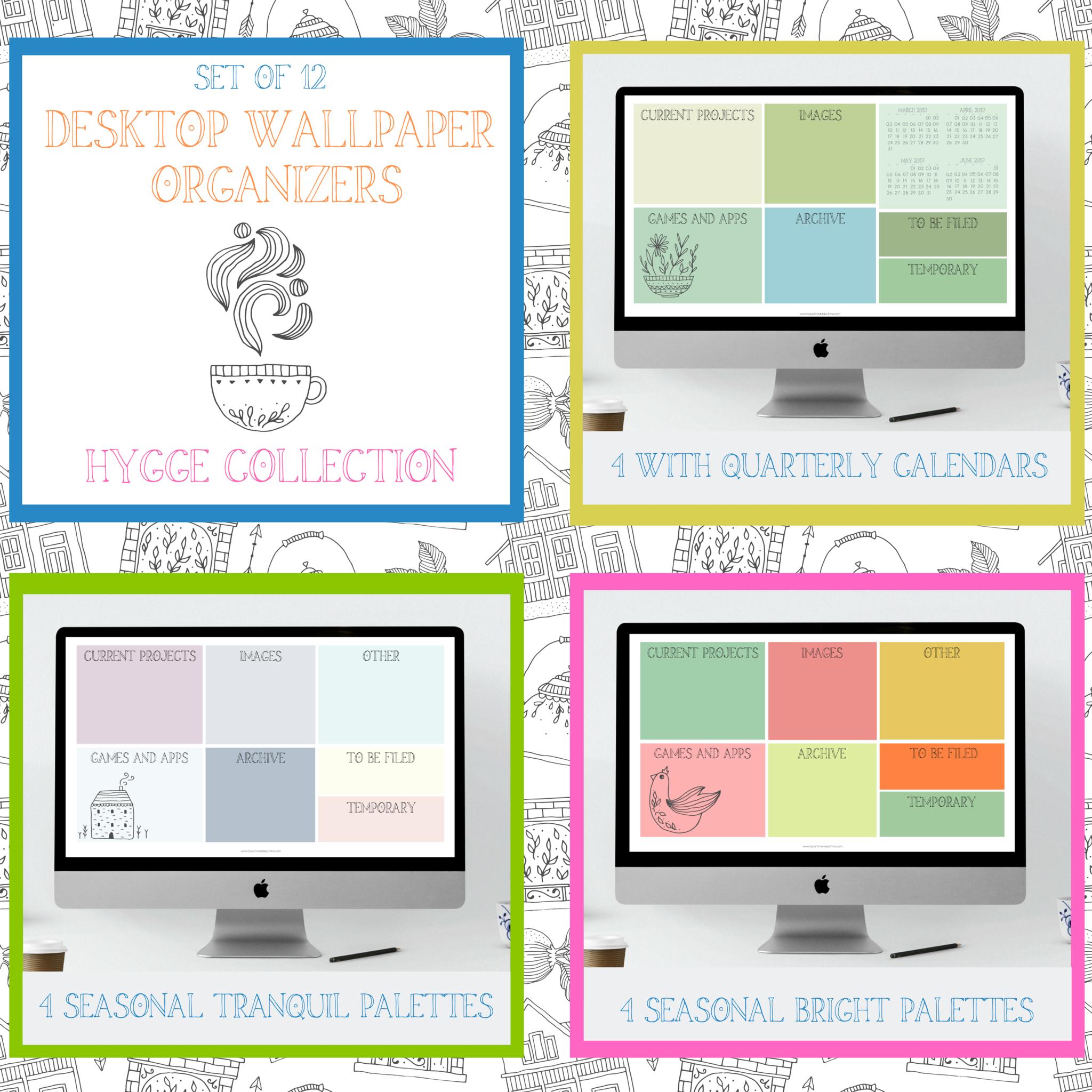 Seasonal Desktop Wallpaper Organizers And Calendars Hygge Inspired Save Time Ma Desktop Wallpaper Organizer Spring Desktop Wallpaper Nature Iphone Wallpaper