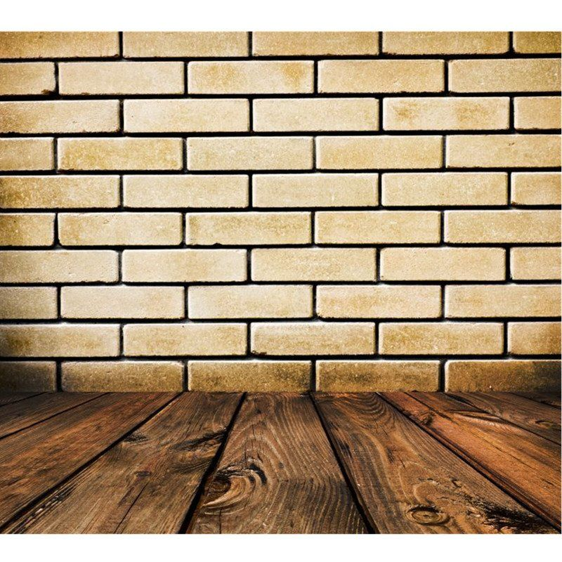 Brick Wall Wood Floor Photo Background Photography Newborn Studio Backdrop  Props
