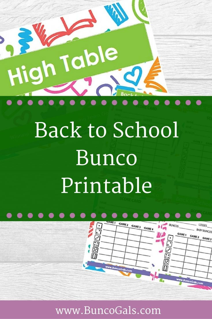 Miraculous Back To School Bunco Printables Bunco Gals Back To Download Free Architecture Designs Scobabritishbridgeorg