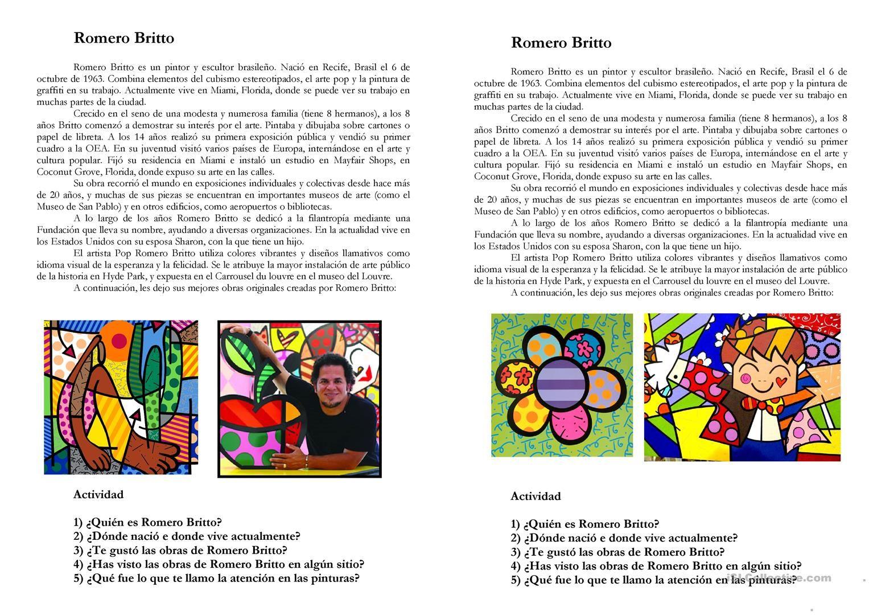 Biografia De Romero Britto Com Imagens Romero Britto Romero