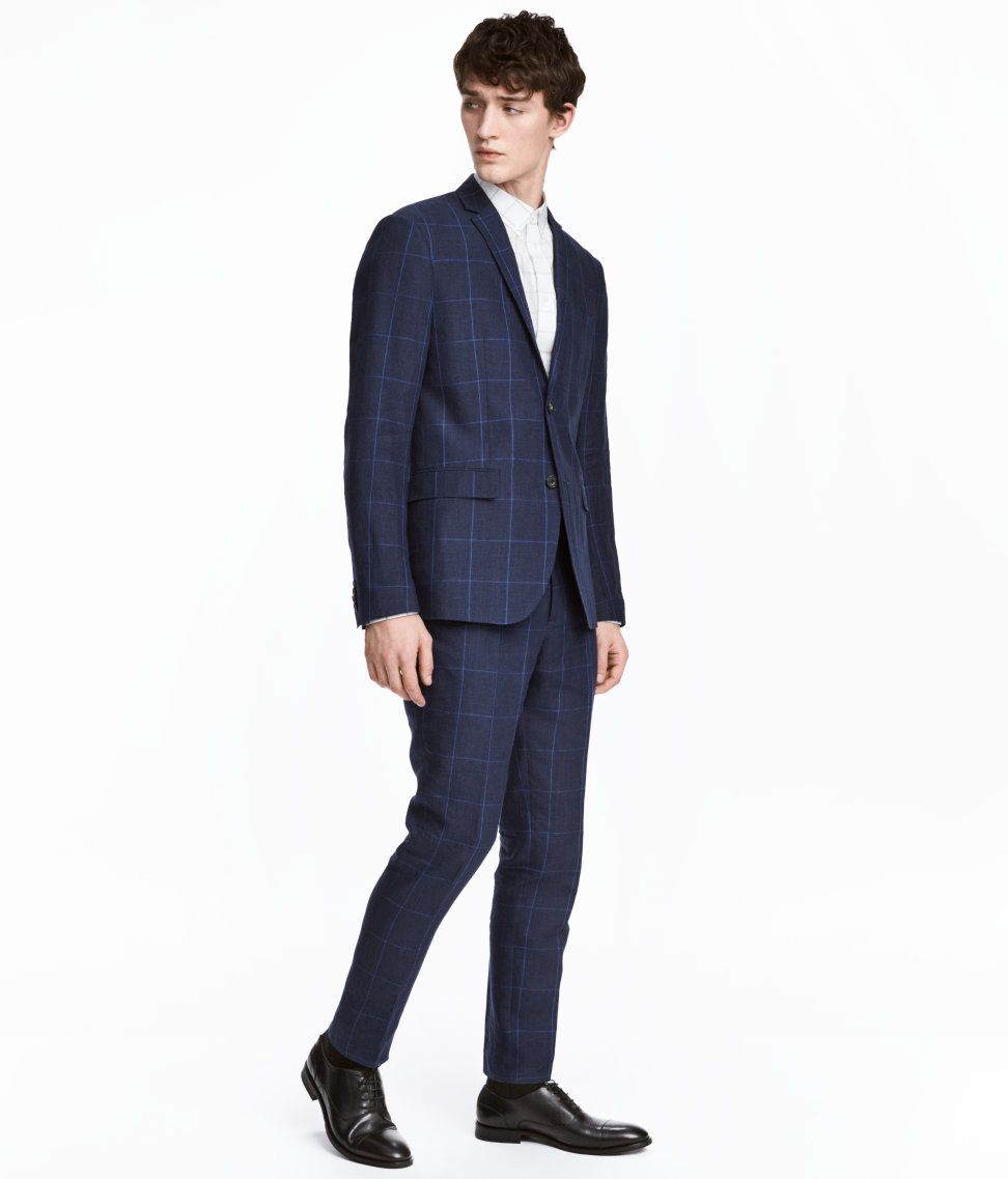 Affordable wedding fashion from H&M! Love this slim fit blue ...