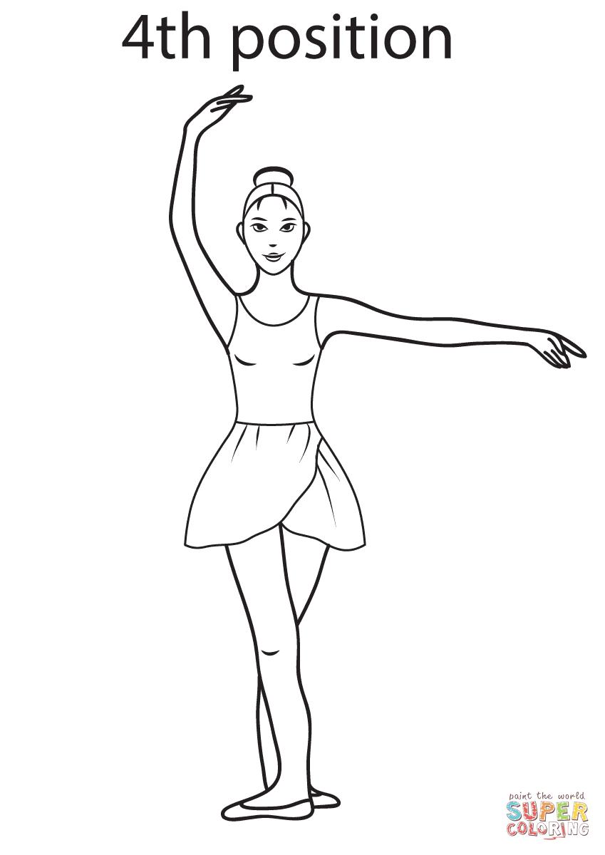 Ballet 4th Position | Super Coloring | μπαλέτο | Pinterest