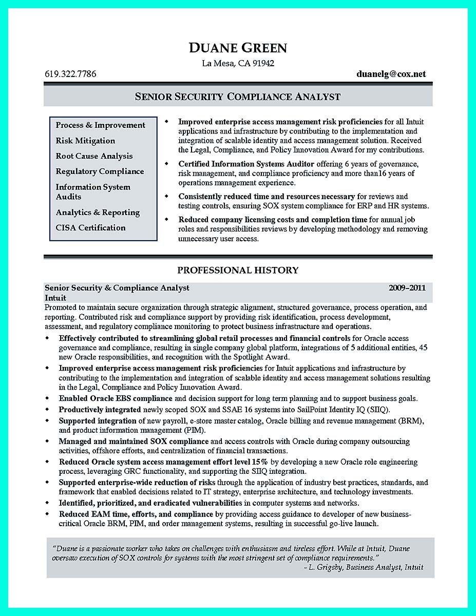 Compliance Resume Stunning Nice Best Compliance Officer Resume To Get Manager's Attention .
