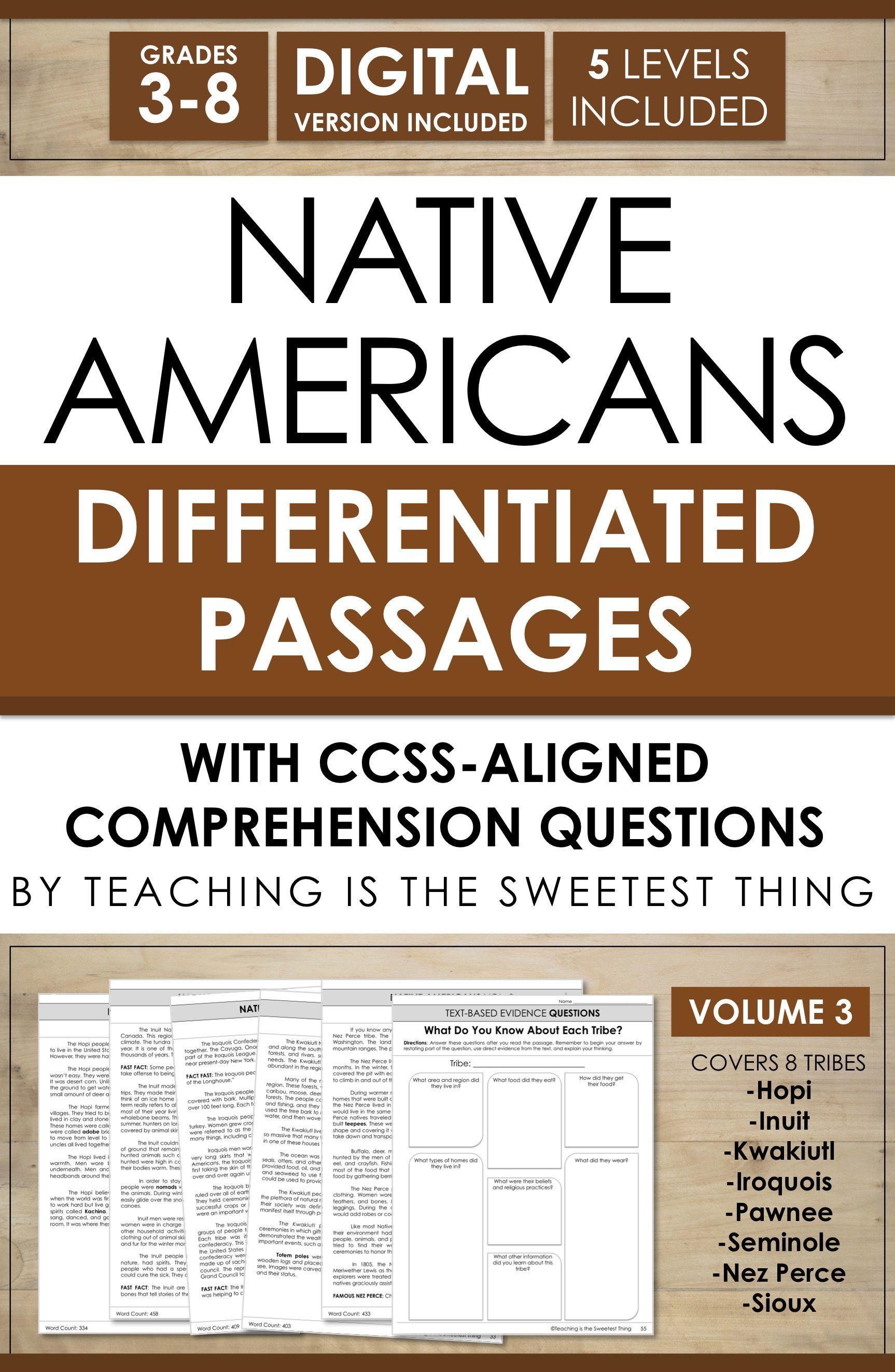 Native Americans Passages Vol 3