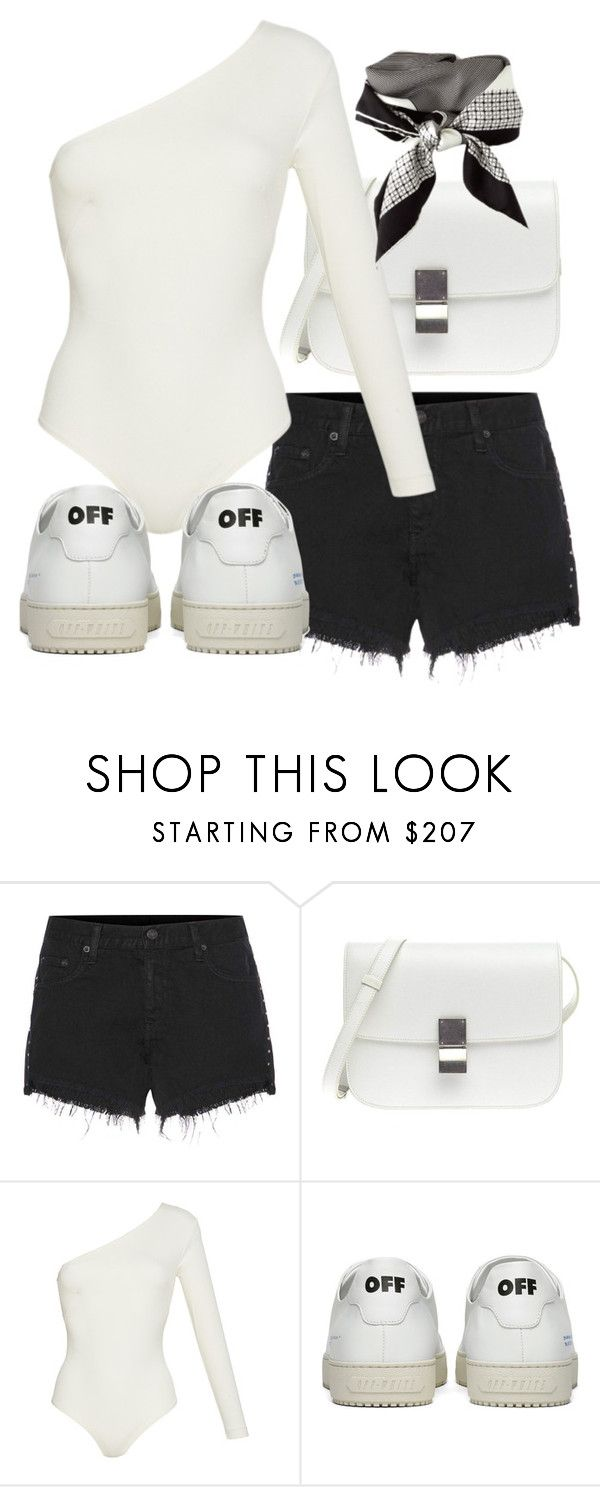 """""""Untitled #21566"""" by florencia95 ❤ liked on Polyvore featuring rag & bone, Sandra Mansour, CÉLINE and Off-White"""