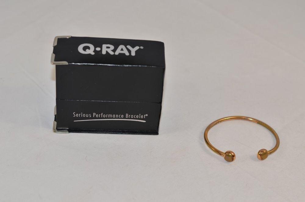 Q Ray Ionized Bracelet Gold Deluxe Noir Medium #QRay