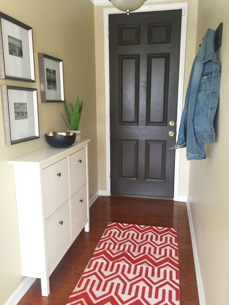 Narrow Entryway Makeover Small Entryways Small Entrance Halls