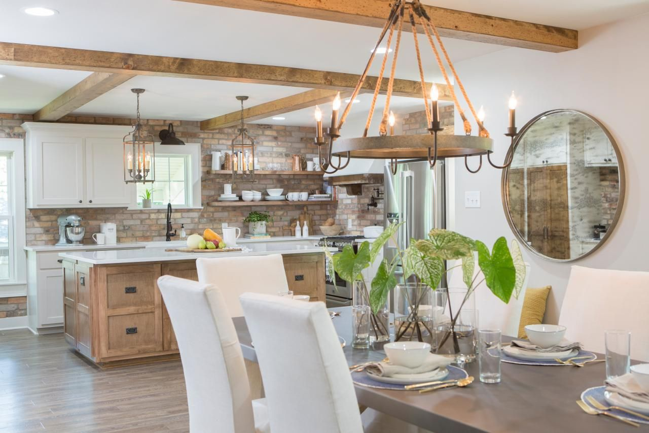 fixer upper dining rooms, living rooms and kitchens {get the fixer ...
