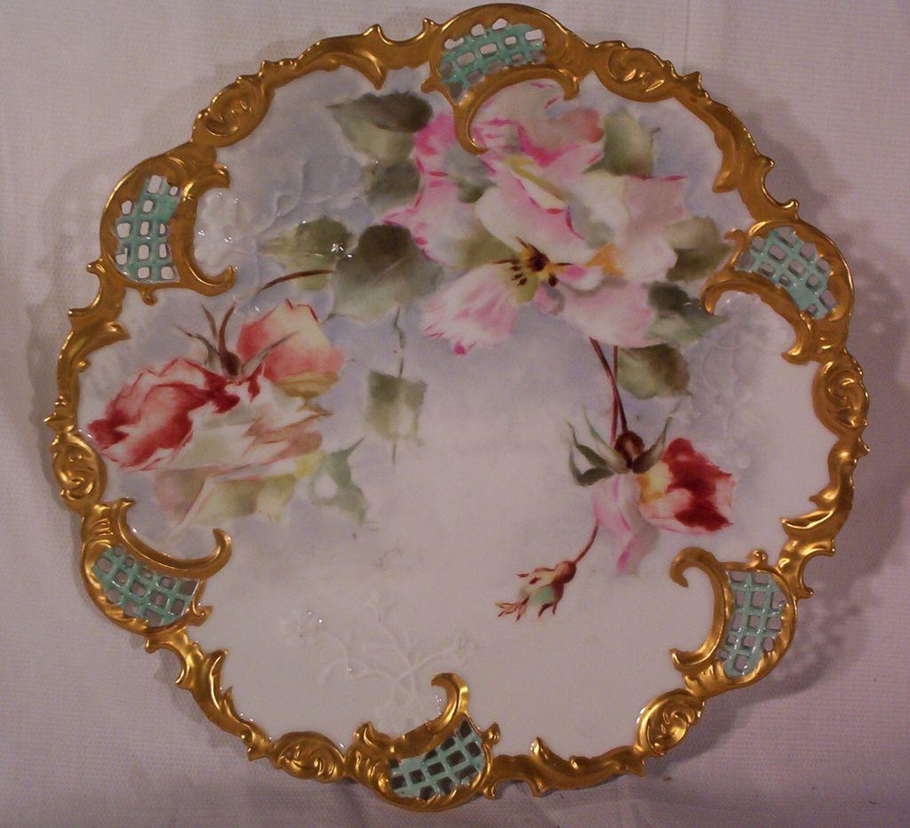 Vintage Hand Painted Plate Leonard Vienna Austria & Vintage Hand Painted Plate Leonard Vienna Austria | Antique ...