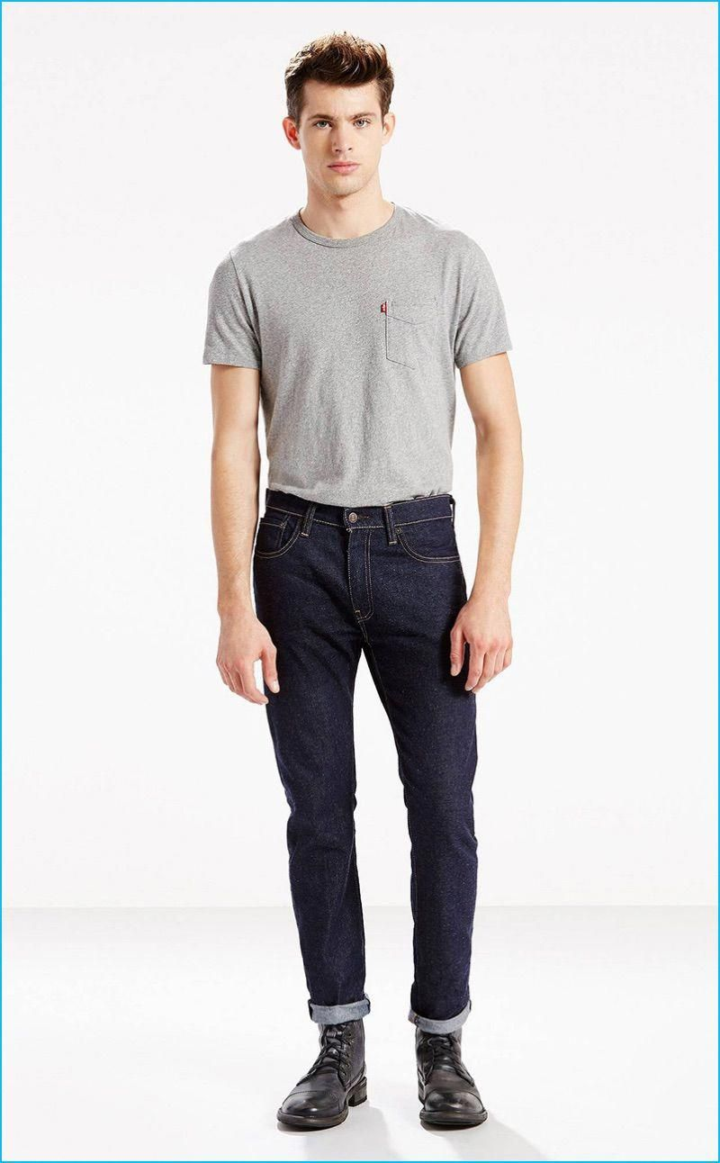 9ffa7b84 Jamie Wise rocks Levi's 505C slim fit Elvis jeans. #MensJeans | Mens ...