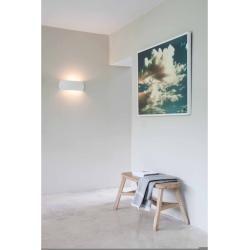 Astro Lighting Wandleuchte, Keramik, weiß, abgerundet, 40 cm breit, Up & Down Milo 1299002Wohnlicht. #gesso